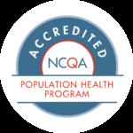 NCQA Accredited Logo with the Population Health Program